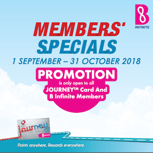 1 September – 31 October 2018<br><p>Members' Specials Promotion</p>