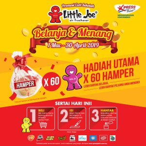 1 March – 30 April 2019<br><p>Stand a chance to win 60 hampers with just 3 simple steps!</p>