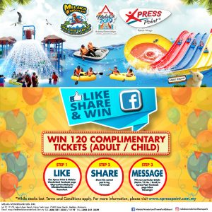1 March – 30 April 2019<br><p>Like, Share & Win Online Contest! 120 Grand Prizes to be won!</p>