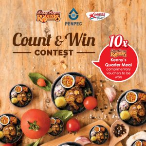 1 September – 31 October 2019 <br><p>Count & Win Contest  Stand a chance to win 10 Kenny Rogers ROASTERS Complimentary Vouchers</p>