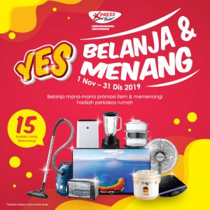 1 November – 31 December 2019 <br><p>'Belanja & Menang' Contest ! Stand a chance to win 15 prizes!</p>